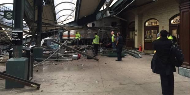 Spectaculaire accident de train dans une gare du New Jersey: un mort et plus de 100 blessés - La DH