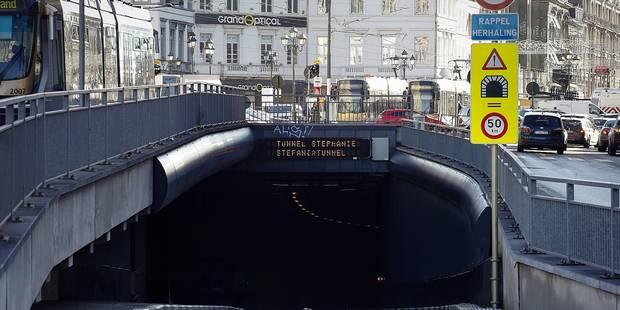 Déjà 169 fermetures de tunnels non prévues en 2016 à Bruxelles - La DH