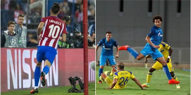 Belges à l'étranger : Witsel buteur contre le Spartak, Carrasco en tête de la Liga (VIDEO) - La DH