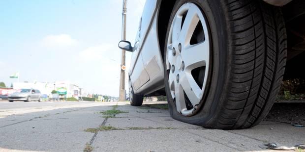 La Louvière : un malfrat crève les pneus de 30 voitures - La DH