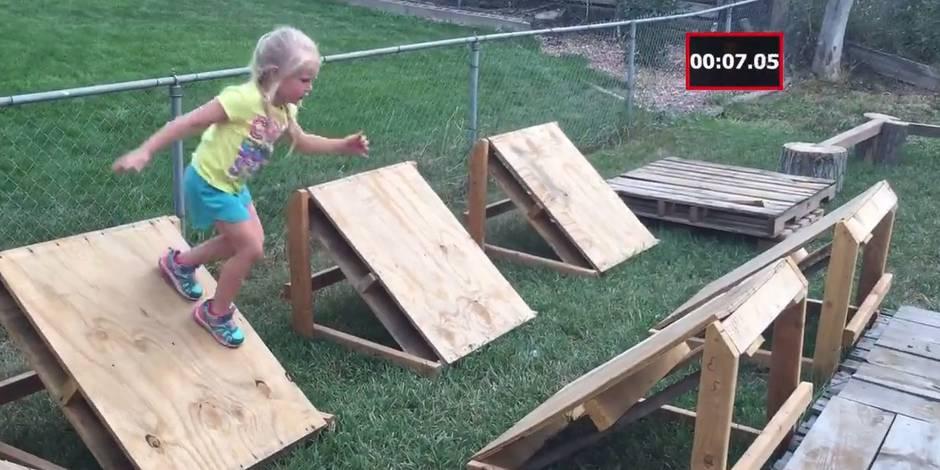 Il crée une réplique du parcours de Ninja Warrior pour sa fille (VIDEO)