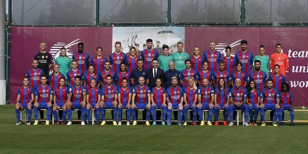 Le Barça réunit ses équipes masculine et féminine sur la photo officielle - La DH