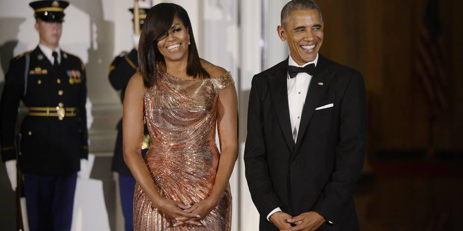 Michelle et Barack Obama : dernier dîner élégant à la Maison Blanche