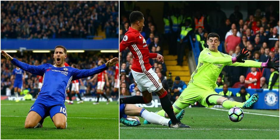 Les notes des Diables à l'étranger: Hazard (8,5/10) et Courtois (7,5/10) humilient Mourinho