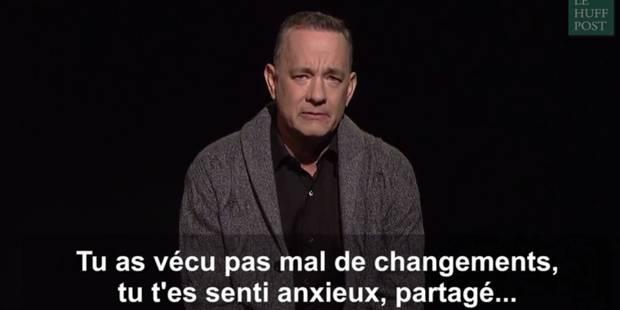 Le message brillant de Tom Hanks aux électeurs américains (VIDEO) - La DH