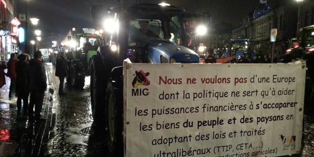 Stop Ceta à Liège: les agriculteurs sont là ! - La DH