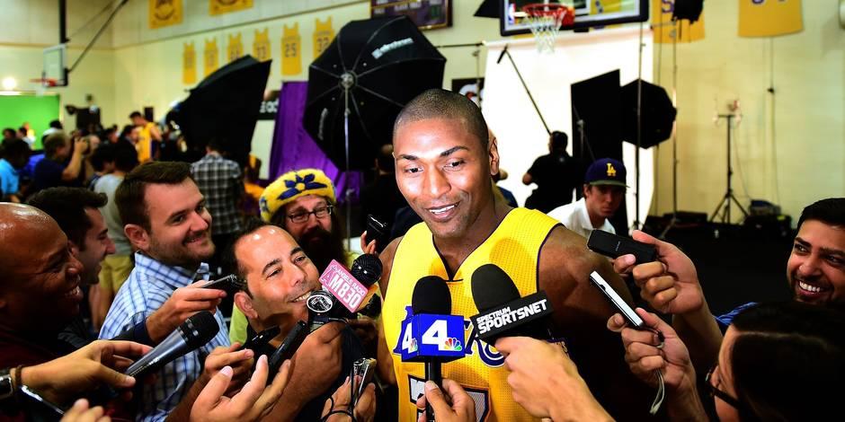 NBA: Metta World Peace retenu par les Lakers pour la saison, à 36 ans