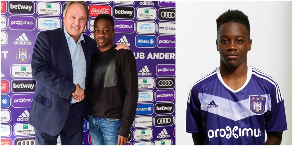Thierry Lutonda signe son premier contrat pro à Anderlecht