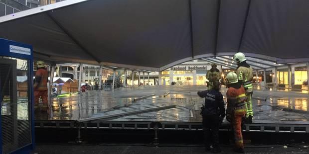 Plaisirs d'Hiver: la tente de la patinoire s'effondre à cause du vent - La DH