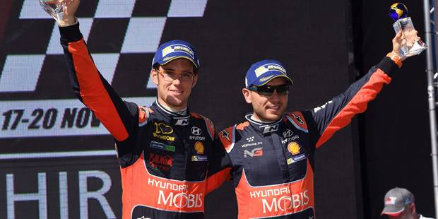 Le Belge Nicolas Gilsoul élu copilote de l'année en WRC - La DH