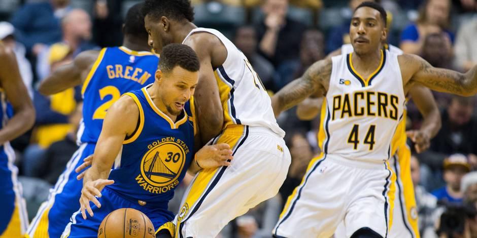 Golden State écrase les Pacers, avec Thompson et Curry au top