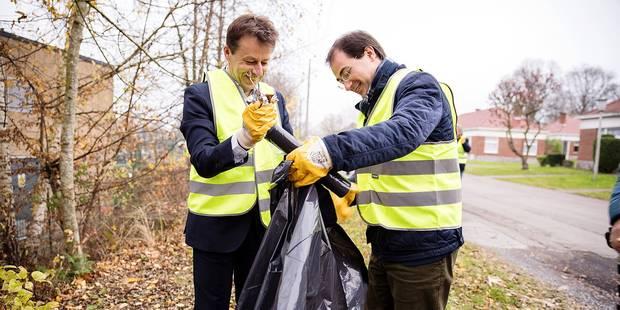 Opération de nettoyage au Colruyt de Dour - La DH
