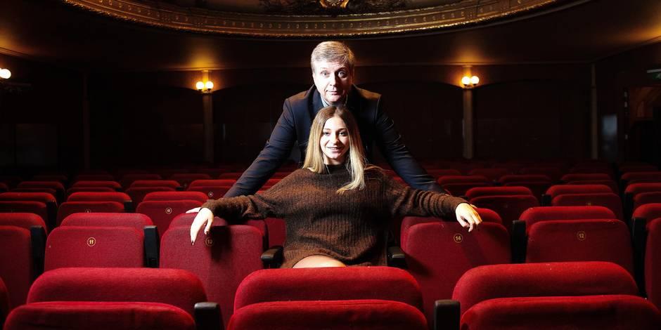 Bruxelles - Théatre du vaudeville: André Lamy et sa fille Morgane