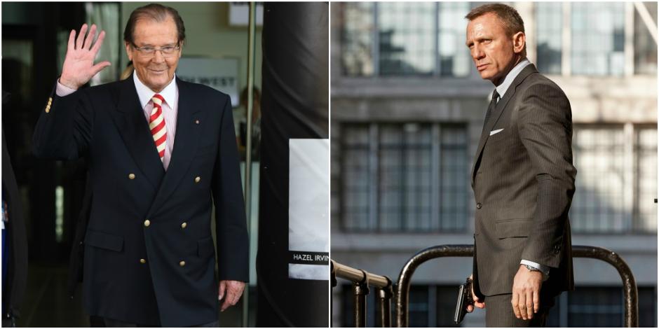 007: Roger Moore face à Daniel Craig ?