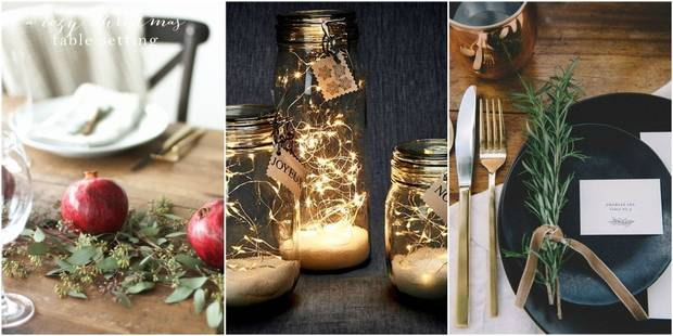 """15 idées """"homemade"""" pour décorer sa table de Noël - La DH"""