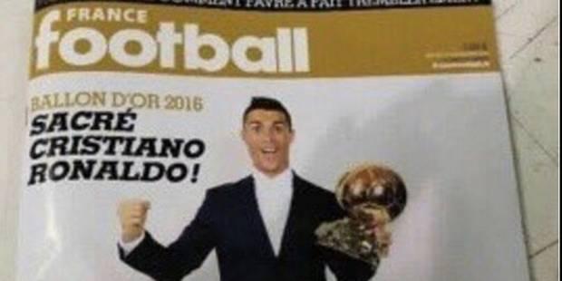 La Une de France Football sacrant Cristiano Ronaldo aurait fuité - La DH
