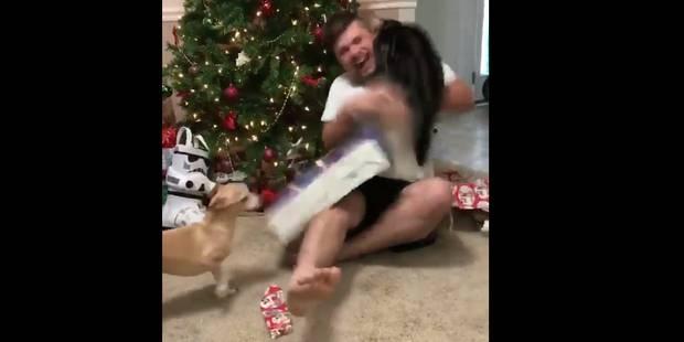 Un peu trop heureux de recevoir son cadeau, il se fait violemment agresser par son chat (VIDEO) - La DH