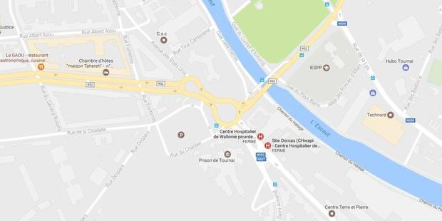 Un rond-point inondé devient une vraie patinoire à Tournai - La DH