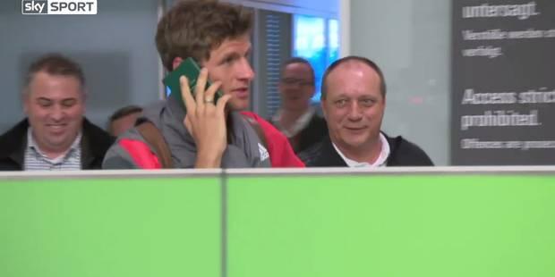 L'irrésistible technique de Thomas Müller pour échapper aux journalistes (VIDEO) - La DH