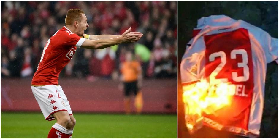 Tifo anti-Trebel, maillot brûlé: le transfert d'Adrien enflamme les supporters mauves et rouches !