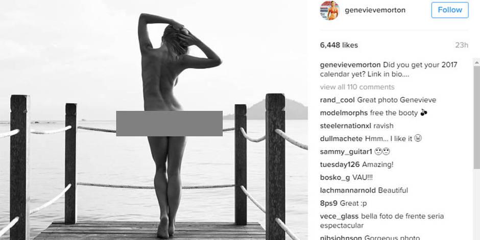 Genevieve Morton pose nue pour la promo de son calendrier... (PHOTOS)