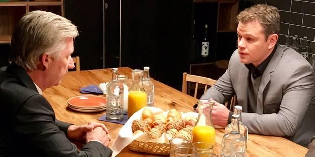 A Davos, le roi Philippe et Matt Damon ont parlé sanitaires - La DH