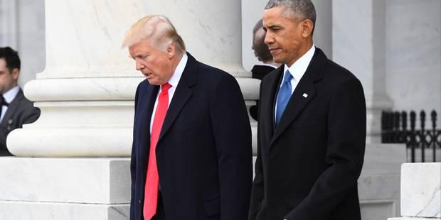 """Donald Trump évoque la """"magnifique lettre"""" laissée par Obama - La DH"""