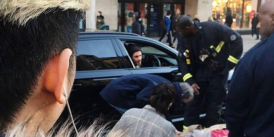 David Beckham a vraiment la classe: Il porte secours à une vieille dame et fait le buzz