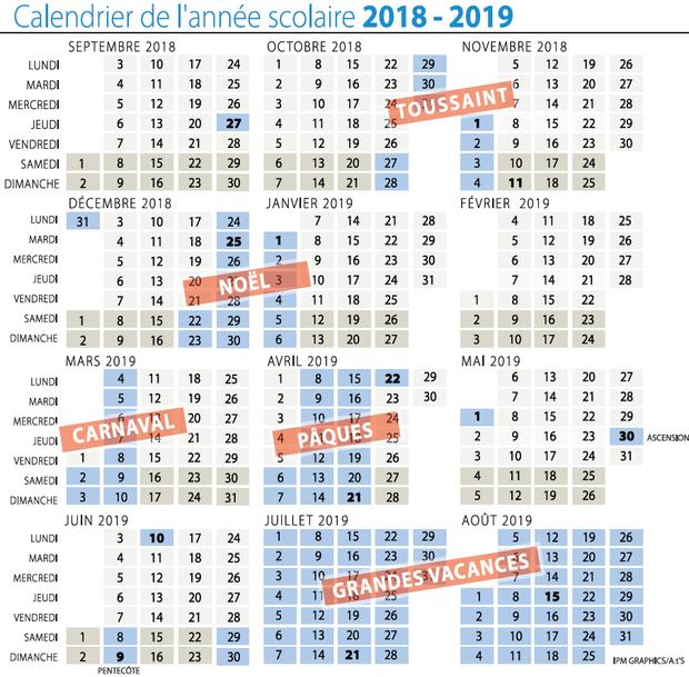 dates vacances noel 2018 belgique Voici la liste des congés scolaires jusqu'en 2019 (CALENDRIER)   La DH dates vacances noel 2018 belgique
