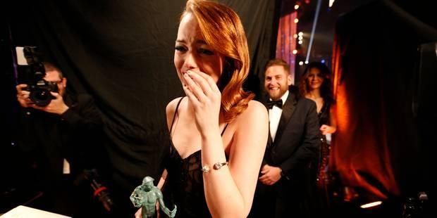Magnifique tapis rouge pour les SAG Awards qui couronnent à nouveau Emma Stone - La DH