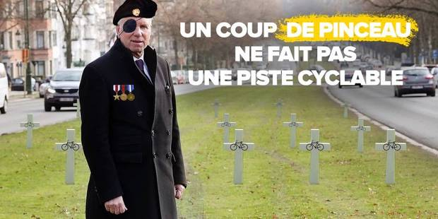 Bruxelles: Alain Courtois moqué par un groupement de cyclistes - La DH