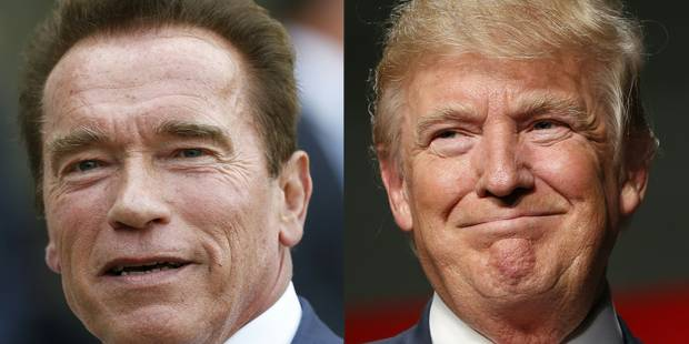 """Schwarzenegger avoue vouloir """"éclater la tête de Trump sur un coin de table"""" - La DH"""