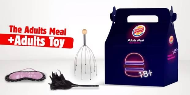 Un sex toy en cadeau chez Burger King (VIDEO) - La DH