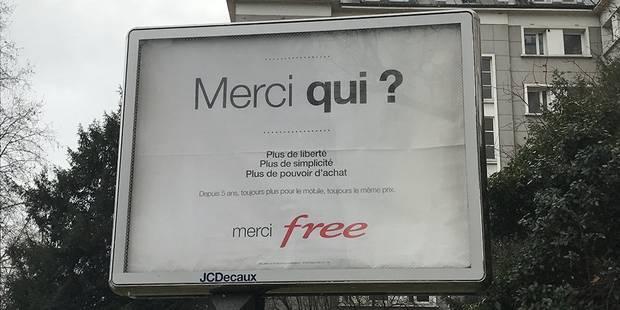 """""""Merci qui ?"""": Quand Free reprend le slogan de Jackie et Michelle - La DH"""