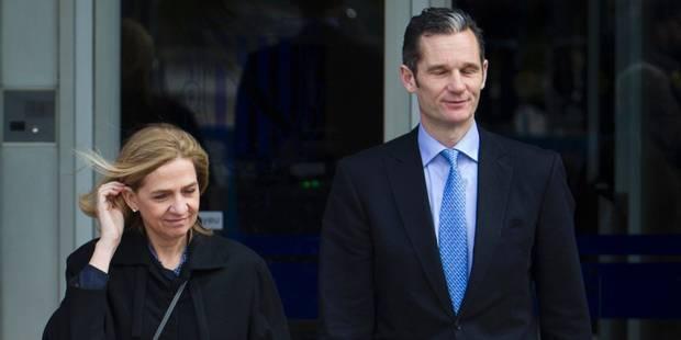 Fraude fiscale en Espagne: l'infante Cristina relaxée, son mari condamné à la prison - La DH