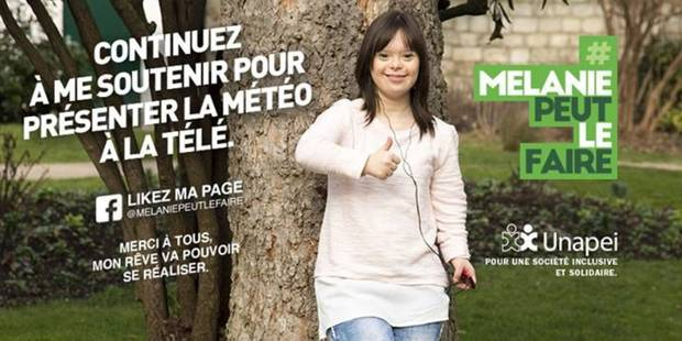 Atteinte de trisomie 21, Mélanie va présenter la météo - La DH