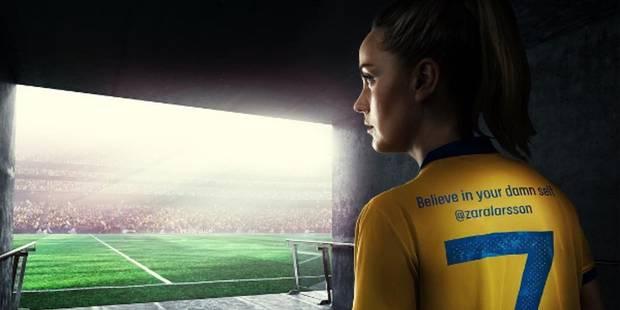 """""""Crois en toi, bon sang"""": quand les footeuses suédoises prônent l'émancipation sur leur maillot - La DH"""