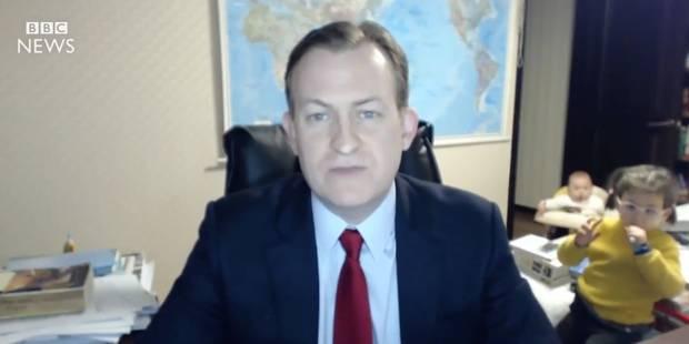 Ses enfants interrompent son interview en direct à la télé - La DH