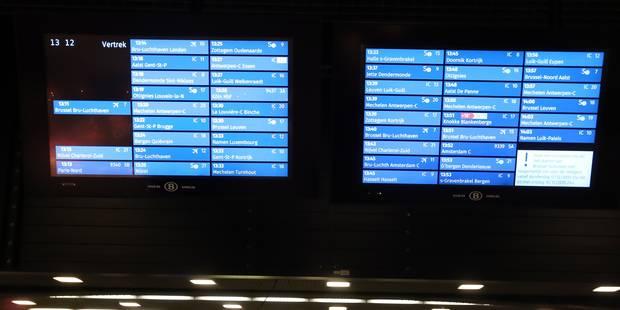 Une dizaine de trains annulés à la suite d'une panne informatique à Bruxelles-Midi - La DH