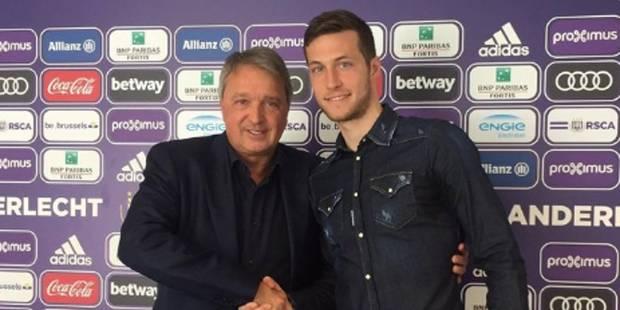 Uros Spajic signe à Anderlecht jusqu'en 2021 - La DH