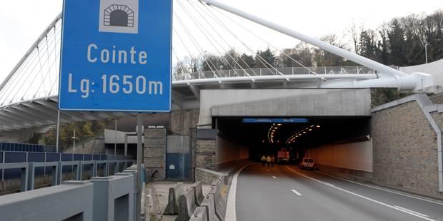 Liège: le tunnel de Cointe rouvert à la circulationun après un problème technique - La DH