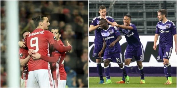 Europa League: Celta Vigo-Genk et Anderlecht-Manchester United en quart - La DH