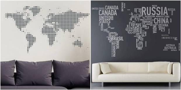 8 cartes murales faire soi m me pour d corer sa maison la dh. Black Bedroom Furniture Sets. Home Design Ideas