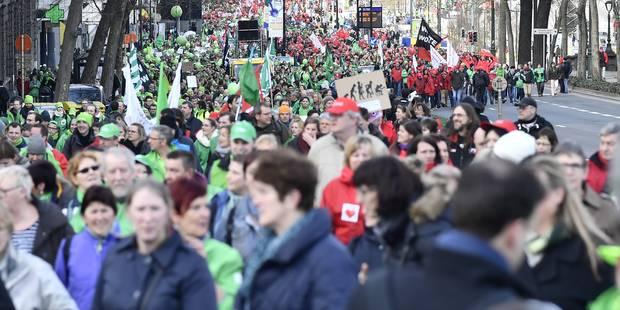 Manifestation des secteurs non-marchands: 14.000 militants rassemblés à Bruxelles (VIDEOS & CARTE) - La DH