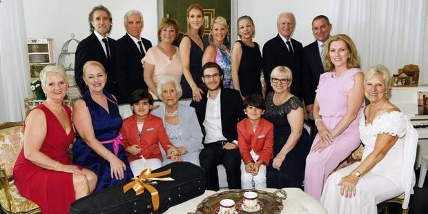Céline Dion : photo de famille pour célébrer les 90 ans de sa maman - La DH