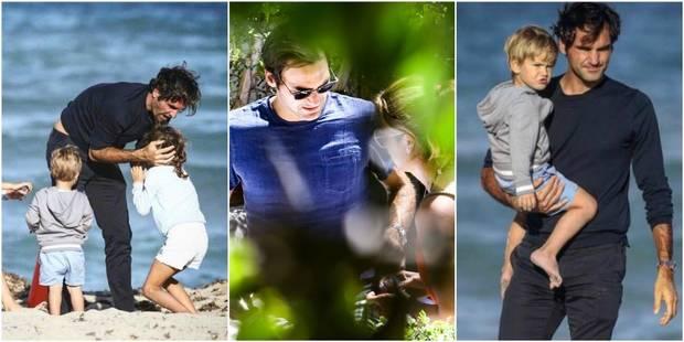 Entre deux tournois, Roger Federer se détend à Miami avec ses enfants - La DH