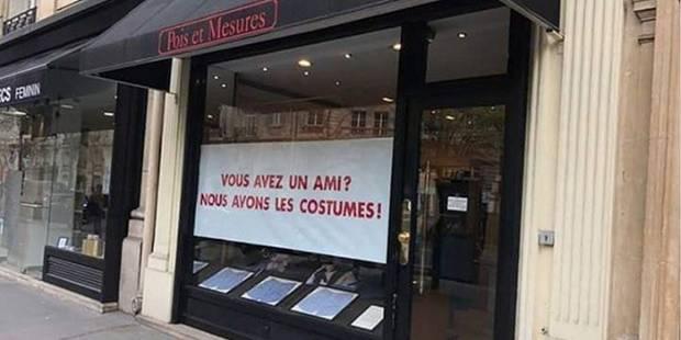 Le coup de com' hilarant d'une boutique parisienne en rapport avec l'affaire des costumes de Fillon - La DH