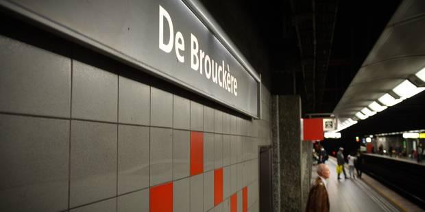 Une personne poignardée à la station de métro de Brouckère - La DH