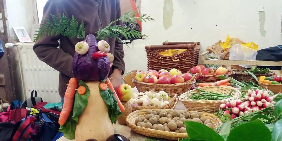 Des personnages en fruits & légumes