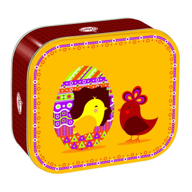 Delacre propose une boîte de Pâques avec à l'intérieur ses iconiques 16 biscuits tradi.    Tea Time d'1 kilo, 12.99€
